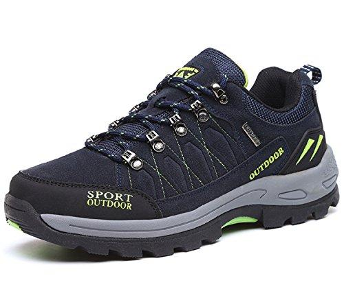 NEOKER Wanderschuhe Trekking Schuhe Herren Damen Sports Outdoor Hiking Sneaker Blau 43