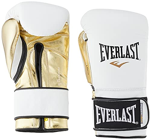 Everlast PowerLock Pro Trainingshandschuhe, 400 g, Weiß / Gld PowerLock Pro Trainingshandschuhe