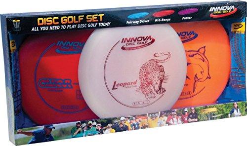 Innova Disc Golf Set – Driver, Mid-Range & Putter, bequemer DX Kunststoff, Farben können variieren (3er Pack)