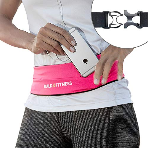 Laufgürtel, voll Einstellbarer Verschluss, Fitness-Gürtel, Schlüsselclip. Kompatibel mit iPhone XS,11 pro, Samsung. Unisex. Für Training in Fitness-Club, Übungen, Radfahren, Laufen