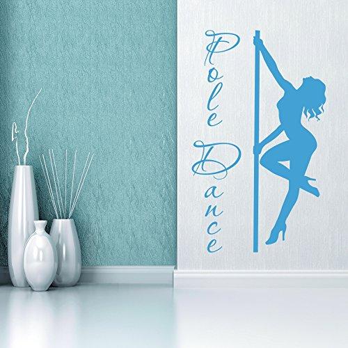 Vinyl Wandtattoo Pole Dance Kunst Tanzen Fitness Eignung Symbol Pilates Gymnastik Sportclub Dekoration für Fitnessstudio Tanzstudio Wandaufkleber Wandsticker Wanddekoration Fototapete A480