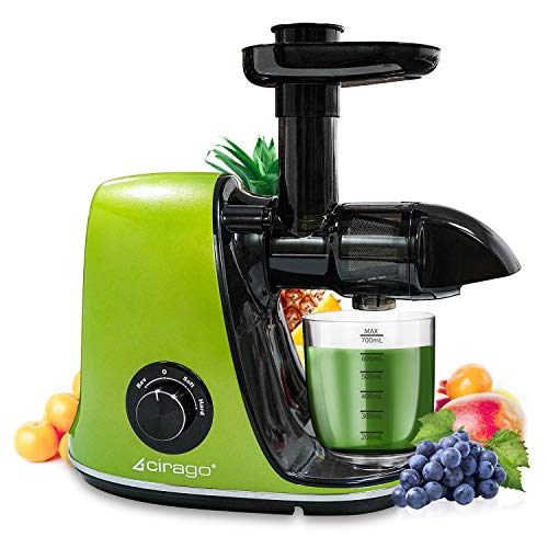 Slow Masticating Juicer Extractor Two Speed Adjustment, Easy to Clean