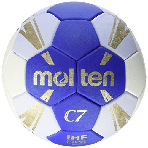 molten Kinder H1C3500-BW Handball, Blau/weiss/gold, 1