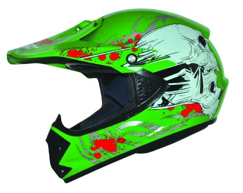 ATO Kids Pro Kinder Crosshelm Grün Größe: S 55-56cm Kinderhelm Kinder Cross BMX MX Enduro Helm