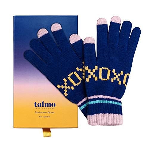 Talmo Touchscreen Winterhandschuhe Damen XOXO Smartphone Texting Handschuhe gestrickt, warm mit Geschenkbox   Kompatibel mit: iPhone, Android, iPad & Nexus   Für Komfort & Wärme auch auf dem Fahrrad