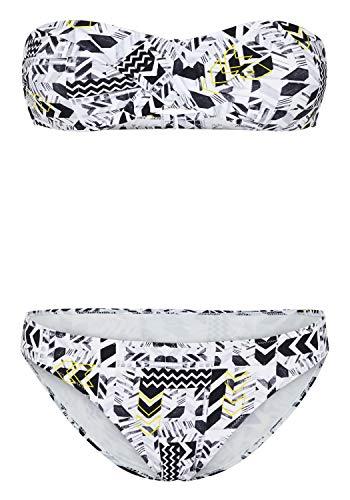 Chiemsee Bikini mit wunderschönem Alloverprint 36 White/Black AOP