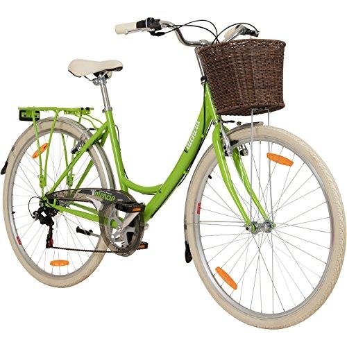 Galano 28 Zoll Valencia 6 Gang Citybike Stadt Fahrrad Damenrad Damenfahrrad, Rahmengrösse:16 Zoll, Farbe:hellgrün