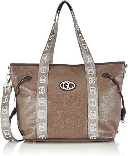 poodlebag City Damen Shopper Schultertasche 43x13x30 cm (B x H x T) Beige (taupe) 3GC0114CITY T