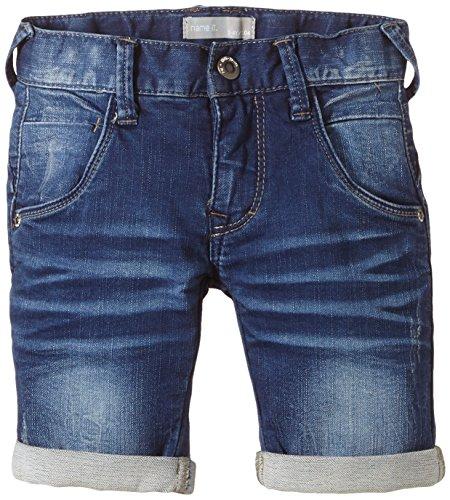 NAME IT Jungen RAS Kids DNM REG Long NOOS S Short, Blau (Medium Blue Denim), (Herstellergröße: 128)