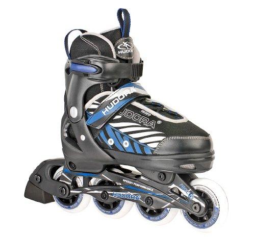 HUDORA Kinder Inliner Leon - Gr. 33 - 36, schwarz/blau - Inline-Skates - 28236