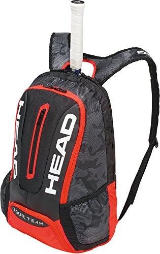 HEAD Tour Team Rucksack Tennisschlägertasche, Unisex, 283148BKRD, schwarz/rot, Einheitsgröße