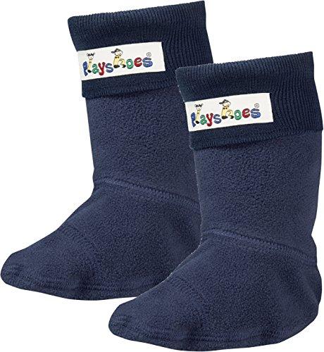 Playshoes Mädchen Fleece-Stiefel Socken, Blau Marine, 20/21 EU