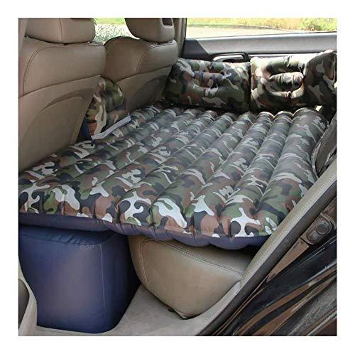 NBHUYT Auto-Rücksitz-Luftmatratze, Außen Reise aufblasbare Schlafenauflage Oxford Tarnung Druck Auto aufblasbares Bett Bettwäsche