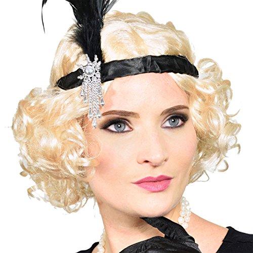 GOODS+GADGETS Charleston 20er Jahre Perücke Blonde Kurzhaar-Perrücke für Burlesque Kostüm Kleid Outfit Accessoire (Perrücke)
