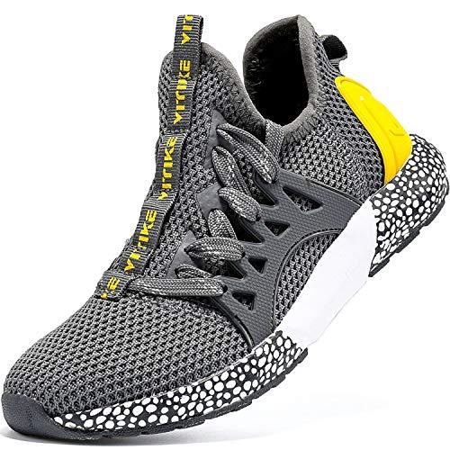Elaphurus Kinder Sportschuhe Jungen Sneaker Mädchen Hallenschuhe Outdoor Laufschuhe Turnschuhe für Unisex-Kinder, 32 EU, Mysterious Grau