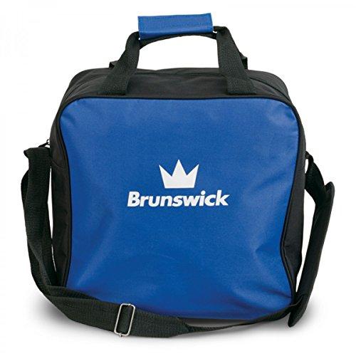 Brunswick TZone Single Tote 1-Ball-Bowling-Tasche für einen Bowlingball, Farbe:Blau