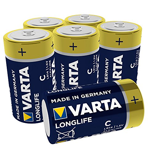 VARTA Longlife Batterie C Baby Alkaline Batterien LR14, 6er Pack