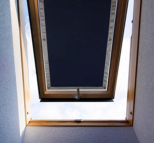 Purovi® Thermo Sonnenschutz für Dachfenster | Hitzeschutz für Innen | ohne Bohren ohne kleben | große Auswahl für Velux + Roto Fenster | Ausgewählte Größe: Velux M08 und 308 – 60 x 115cm