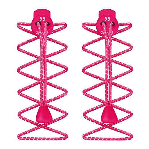 55 Sport Elastische Schnürsenkel mit Schnellverschluss, für Laufen/Triathlon (hot pink)