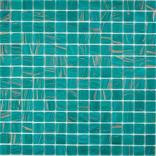 Glasmosaik türkis grün Wand Boden Küche Dusche Bad Fliesenspiegel |WB230-GA67|1Matte