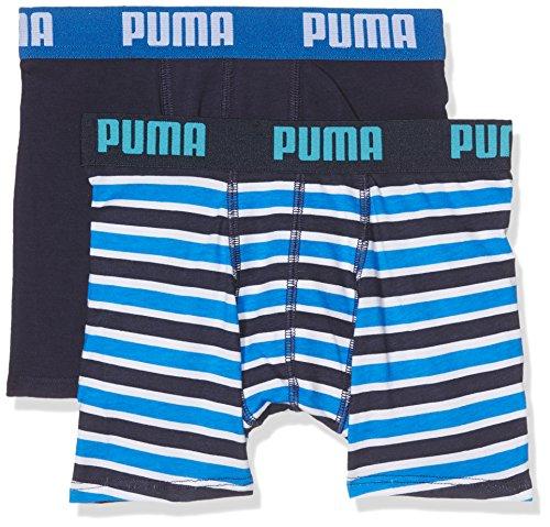 Puma Jungen Basic Boxer Printed Stripe 2p Boxershorts,blau( Blue),140 (Herstellergröße: 9-10 Jahre )