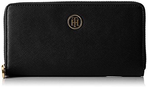 Tommy Hilfiger Damen Honey Large Za Wallet Geldbörse, Schwarz (Black), 2x10x19 cm