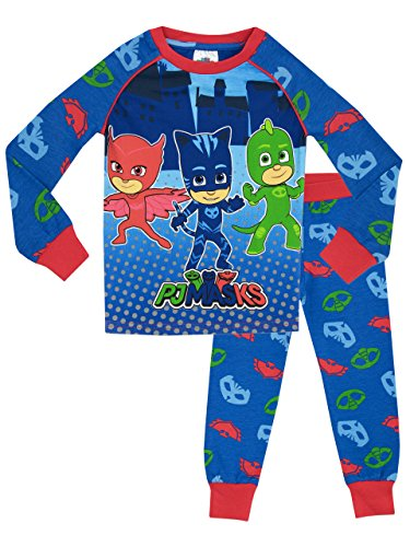 PJ Masken Jungen PJ Masken Schlafanzüge, 5, mehrfarbig 110 (Herstellergröße: 4 - 5 Jahre)