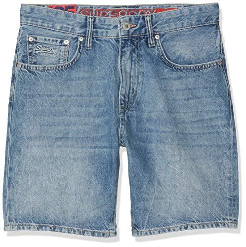 Superdry Herren Conor Taper Shorts, Blau (Samson Blue R2y), W(Herstellergröße: 30)