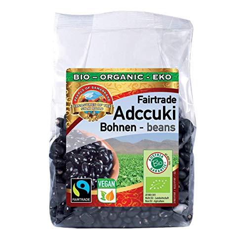 Bio schwarze Adccuki Bohnen glutenfrei 1,5 kg Fairtrade, gentechnikfrei, wunderschöne aromatische Adzuki Azuki Schwarzbohnen aus Usbekistan 6x250g