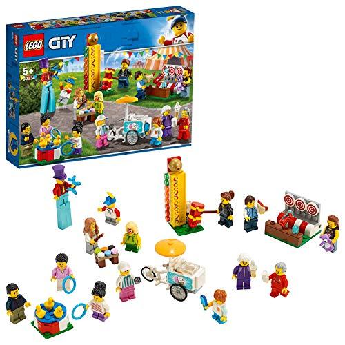 LEGO 60234 City, Stadtbewohner, Jahrmarkt, Bauset mit 14 Minifiguren, Baupielzeug für Kinder ab 5 Jahren