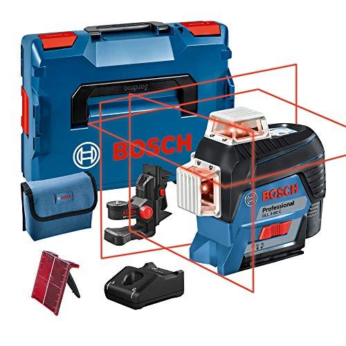Bosch Professional 12V System Linienlaser GLL 3-80 C (1x Akku 12V, Universalhalterung BM 1, m. App-Funktion, roter Laser, max. Arbeitsbereich: 30 m, Tasche, in L-BOXX) 0601063R02