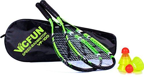 VICFUN Speed Badminton Set Vicfun Speed Badminton 100 Set, schwarz/grün, 868/0/0