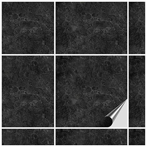 FoLIESEN Fliesenaufkleber 15x15 cm - Fliesen-Folie Bad - Klebefolie Küche - 5 Klebefliesen + Rakel, Fontanella - 15x15 cm