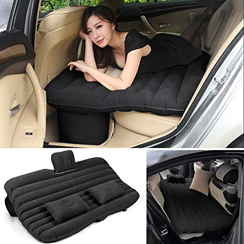 Auto-Luft-Bett-Bequeme Reise-aufblasbare Rücksitz-Kissen-Luftmatratze für Kinder (Schwarz)