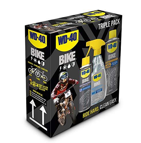 WD-40 Bike Fahrradpflegeset 1x Kettenspray Allwetter, 1x Reiniger, 1x Kettenreiniger
