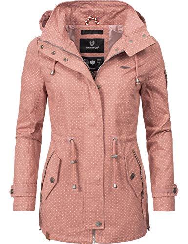 Marikoo Damen Übergangsjacke Baumwolljacke mit Kapuze Nyokoo Rosa Dots Gr. XL