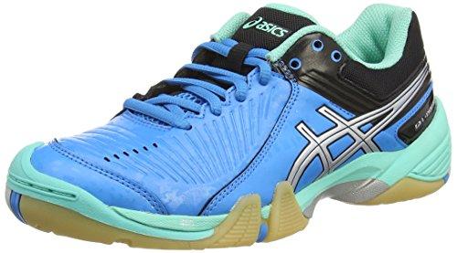 Asics Gel-domain 3, Damen Handballschuhe, Blau (aqua Mint/silver/electric Blue 7093), 42 EU