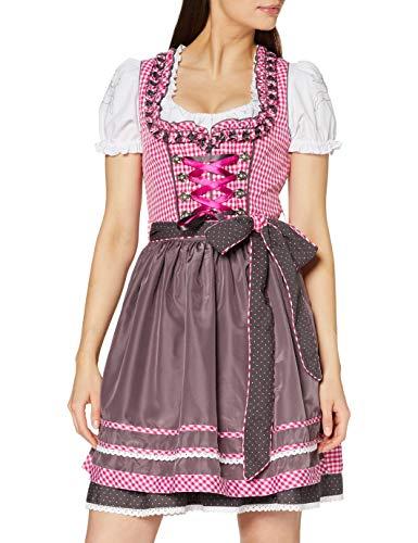 Wiesnkönig Damen Vroni Dirndl, Mehrfarbig (Pink-Taupe 261), 32