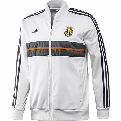 adidas Herren Sweatjacke Real Madrid Anthem, white/lead, XL, G83284