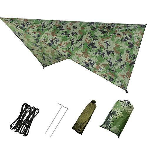 Maxtapos Campingzelt Zwischen Obdach Hängematte Groß Lightweight wasserdichte Abdeckung Camouflage