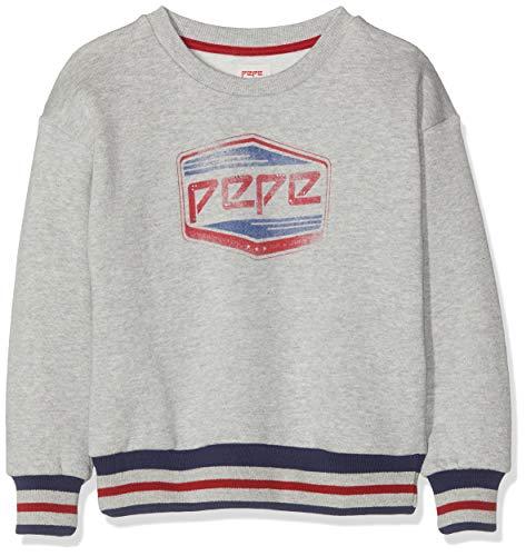 Pepe Jeans Mädchen Nouvelle Sweatshirt, (Grey Marl 933), 7-8 (Herstellergröße: 7/8 Jahre)