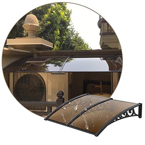 JIANFEI VordachHaustürÜberdachung, Regen- Und Schneedecke Im Innenhof Aus Polycarbonat, Erweiterbarer Sonnenschutz Für Außenklimaanlagen, 11 Größen Anpassbar (Color : Brown, Size : 60X220CM)