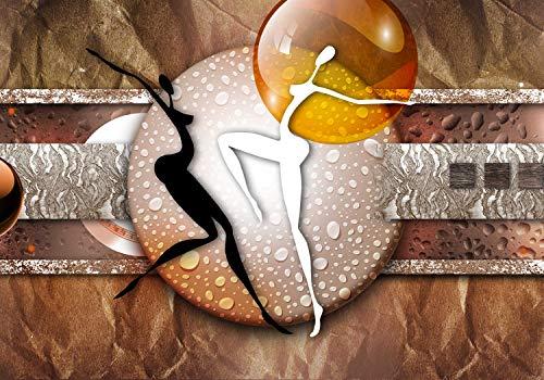 wandmotiv24 Fototapete Frauen Tanz Figuren, XS 150 x 105cm - 3 Teile, Fototapeten, Wandbild, Motivtapeten, Vlies-Tapeten, Abstrakt Menschen M6113