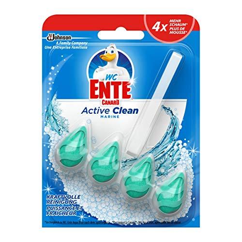 WC-Ente Active Clean WC Duftspüler-Einhänger, WC Reiniger, Marine-Duft, 8er Pack (8 x 38,6ml)