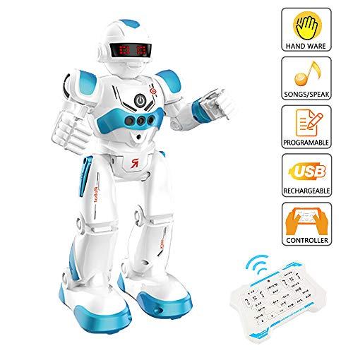 WISHTIME Ferngesteuerte Roboter - RC Fernbedienung Intelligenter Roboter Intelligente Programmierung Gestenerkennung Roboter, Tanzen Singen Gehen RC Spielzeug Mit Akku für Kinder Kinder Unterhaltung