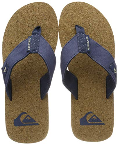 Quiksilver Herren Molokai Abyss Cork - Sandals for Men Zehentrenner Mehrfarbig (Brown/Blue Xbcb), 43 EU