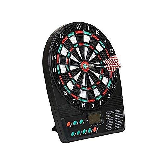 Mini-Desktop-Elektronik Dart Ziel Mit Automatischer Punktewertung LED-Anzeige, Mit 3 Soft-Darts, 18 Spielen Und 159 Ways of Play, Freizeit Entertainment Darts Spiel