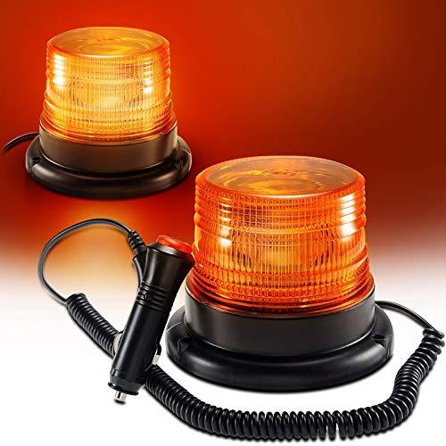 LED Rundumkennleuchte, Gelb Rundumleuchte für Auto Anhänger Wohnwagen SUV