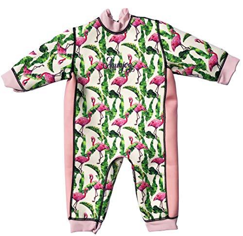 Aquajoy Warmsy - Premium Wende-Schwimmanzug | Warmer Neoprenanzug für Babys & Kleinkinder | Warme Ganzkörper-Badebekleidung für Jungen & Mädchen | Sonnenschutz-Swimsuit aus Neopren | 2 in 1-Design