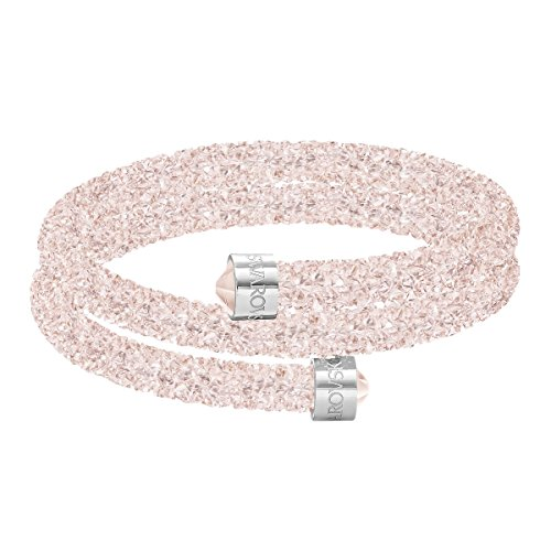 Swarovski Crystaldust Double Armreif, rosa, Edelstahl